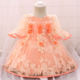 Fashion Elegant Hot Sale 2018 Girls Clothes Artificial Flower lace Puffy Party Dress for Girls L1875xz