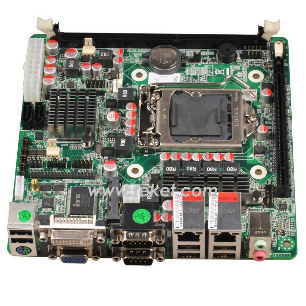 H61 <span class=keywords><strong>chipset</strong></span> LGA1155 Socket mini- itx scheda madre h61zx per pc industriale, ps2+dvi+2*com+2*lan+6*usb, 2*mini- pice