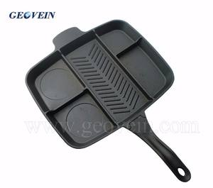 Divided cast iron skillet 5 in 1 multi section frying pan master pan divied grill non-stick fry pan