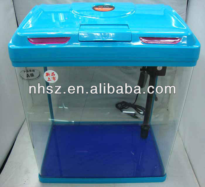 latest disign of sobo mini aquarium fish tank with light and filter