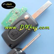 High quality 2 buttons flip car keys with ID46 chip 433Mhz CE0523 for citroen 407 key Citroen 433mhz remote control