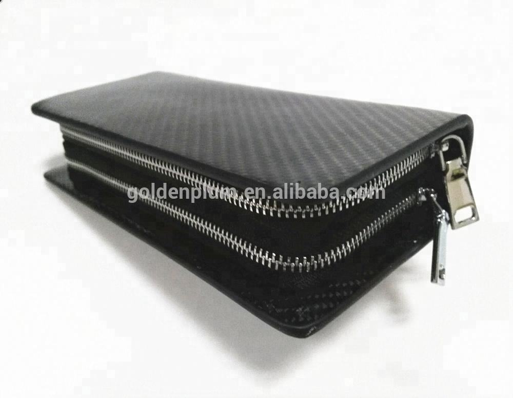 남편에게 Luxury 두 번 단추사이의 carbon fiber 돈 clip 꿀's real leather wallets card holder purse 대 한 boy friend 선물