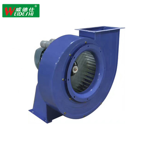Large volume industrial centrifugal fan with low noise low sound