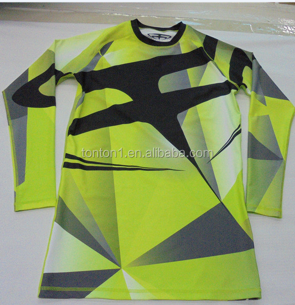 Jiu jitsu grappin manches longues rashguards mma rashguard de compression