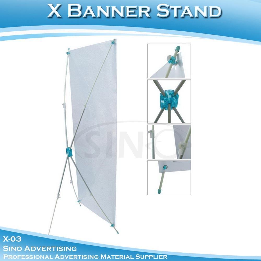 высокое качество регулируемые x-03 x стойка знамени размер 60x160cm- 80x180cm