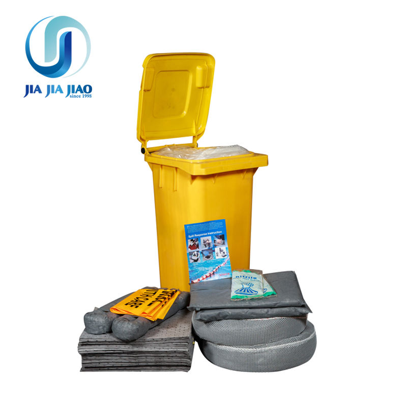 Wheelie Bin Oil Absorbent Spill Kit 120L 360L Workshop Factory Warehouse