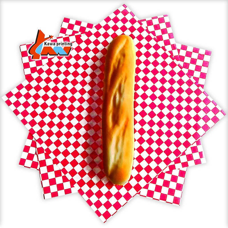 Food Wrapping Paper Packaging,Burger Wrapping Paper,Custom Printed Grease Proof Mg White Sandwich Paper Wrap
