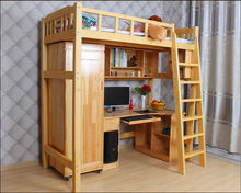 wholesale bunk bed with desk bookcase school university dormitory beds school dormitory furniture