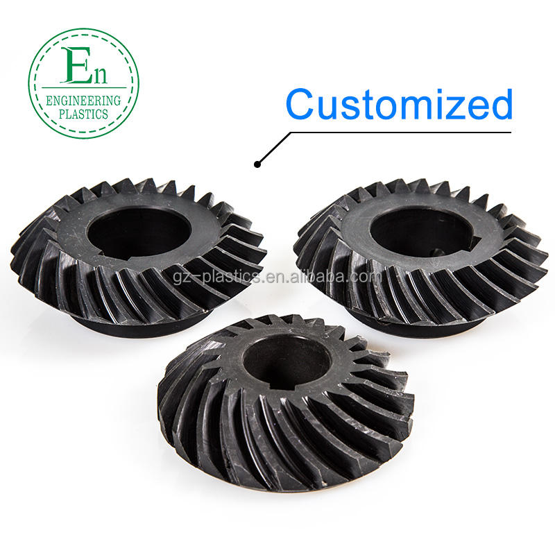 Customized helical plastic nylon spiral pinion bevel gears