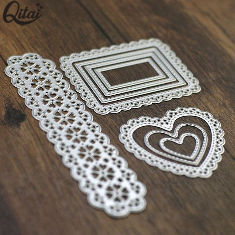 Rectangle craft steel paper metal cutting dies for scrapbooking