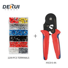 HSC8 6-4A MINI-TYPE SELY-ADJUSTABLE CRIMPING PLIERS FOR TUBULAR BARE TERMINALS