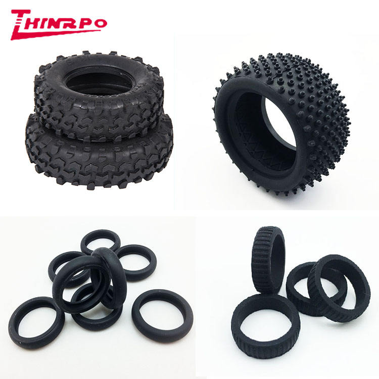 Custom made abrasion resistant rubber tire toy/ natural rubber mold silicone rubber toy wheels
