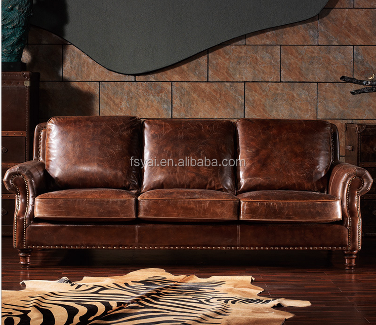European style used living room for sale chape heated leather sofa