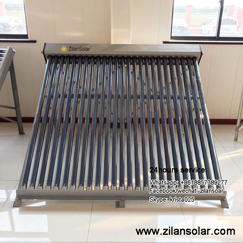 Non pressure solar collector for water heating project