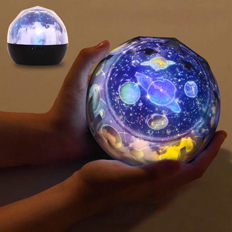 Magic Universe Projection Lamp Romantic 3D Starry Sky Star Rotating LED Projector Night Light Table Lamp for Children Room