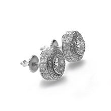 hiphop style cz stud earring custom made 925 sterling silver Earrings