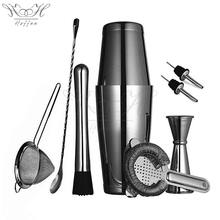 8pcs Stainless Steel Cocktail Mixology Bartender Kit Copper Plate/Gunmetal Black/Gold Plate