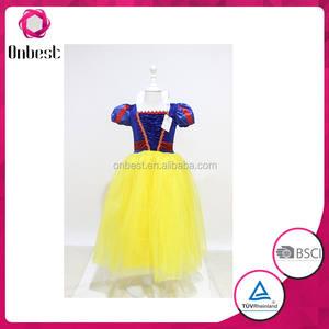 Entrega rápida traje de blancanieves para funcionamiento de la etapa clásica traje de cuento de hadas princesa de Las Muchachas