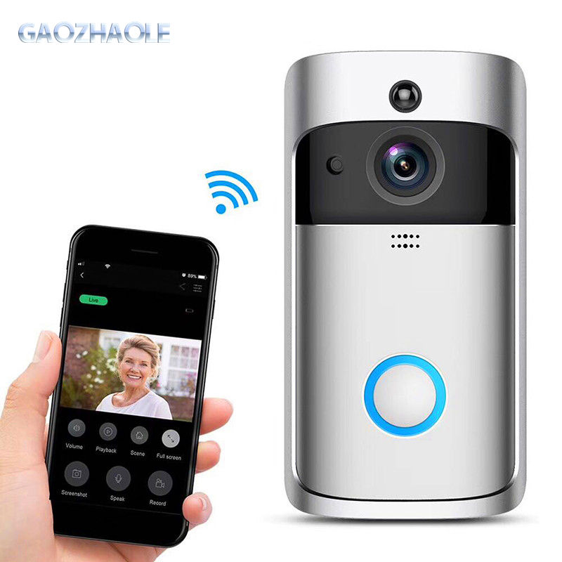 2020 WIFI M4 wireless doorbell camera 1280*720 wifi doorbell with 6pcs night light led support PIR for M4 video doorbell