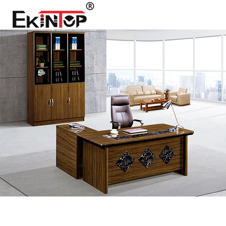 Foshan antique mdf wood veneer executive l shaped office table executive ceo office desk of best office furniture manufacturers