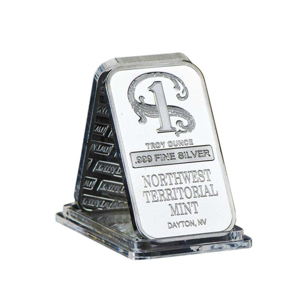 SW Silver Plated Metal Bar Northwest Mint Art Crafts Bullion Bar, One Dollar Silver Plated Bars Metal Crafts