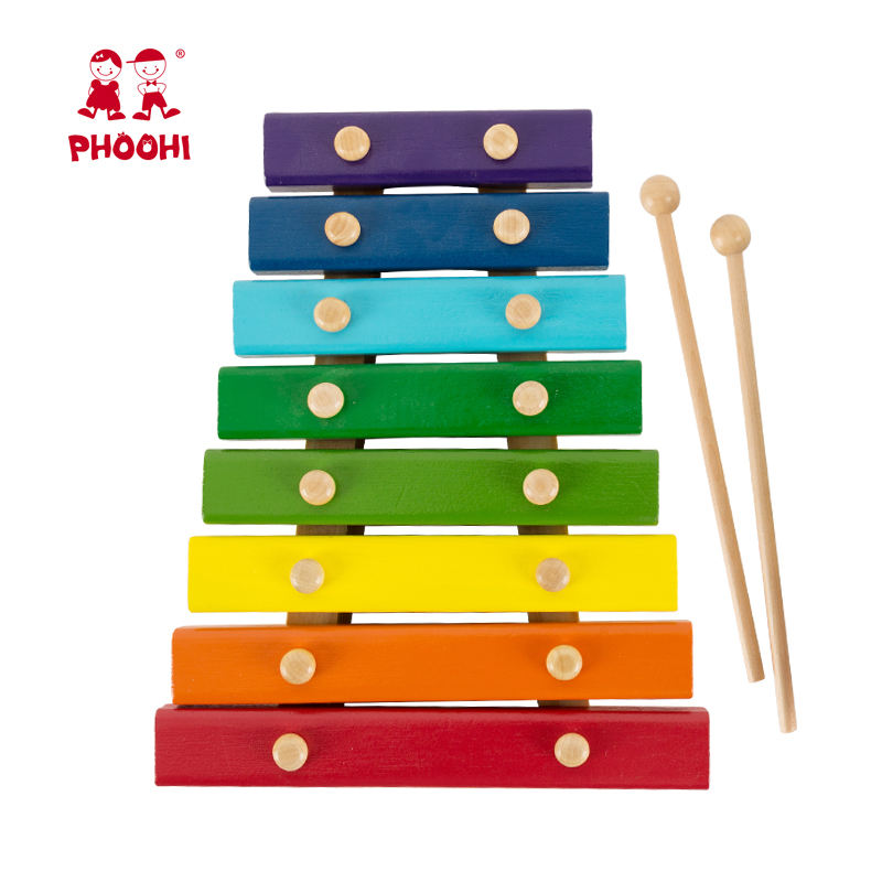 Wholesale Children Play Musical Instrument Toy Baby Wooden Xylophone For Kids 18M+