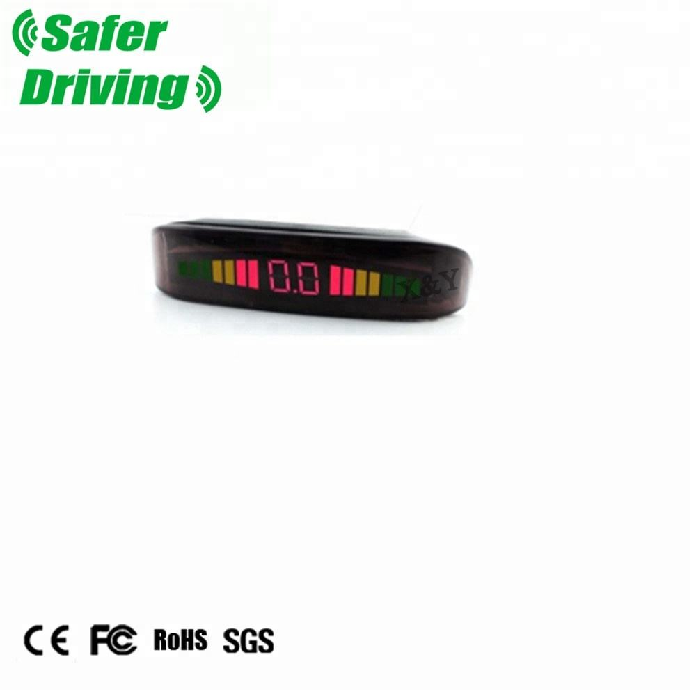 Saferdriving Auto monitor park sensor LED wireless reverse camera en parking sensor