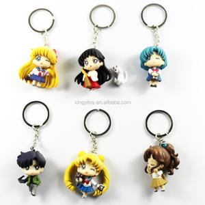 Japanse Anime 6 stuks Set Sailor Moon Anime Action Figures Cosplay Sleutelhanger