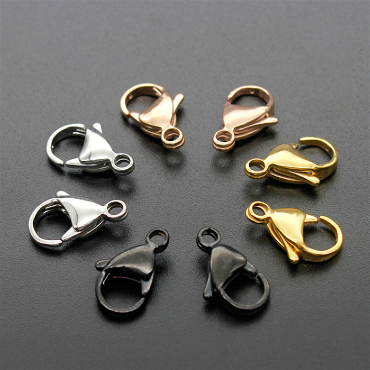 S951 Gold /black/rose gold IPG plated 316l stainless steel lobster clasp,metal lobster claw clasps for making jewelry