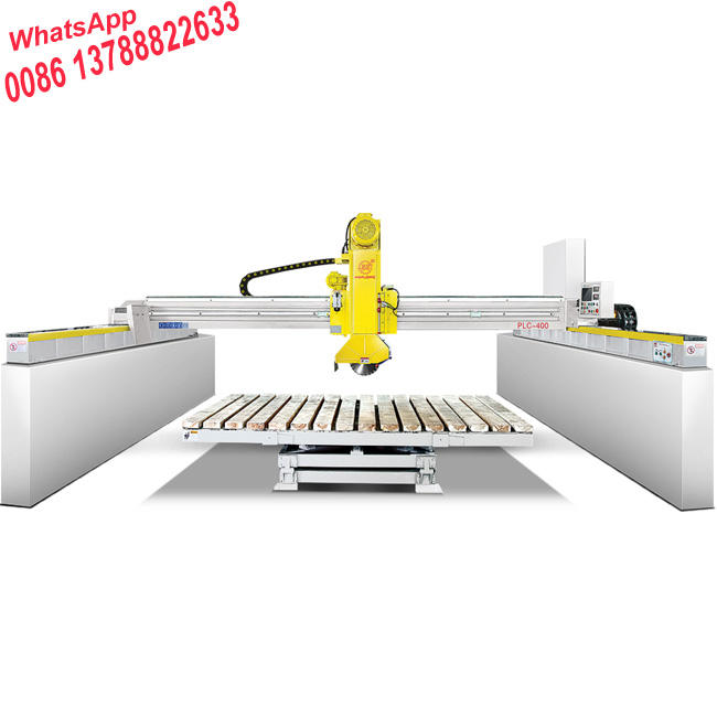stone cutting machine price PLC700 bridge saw with 45 degree cutting heads for big size slab