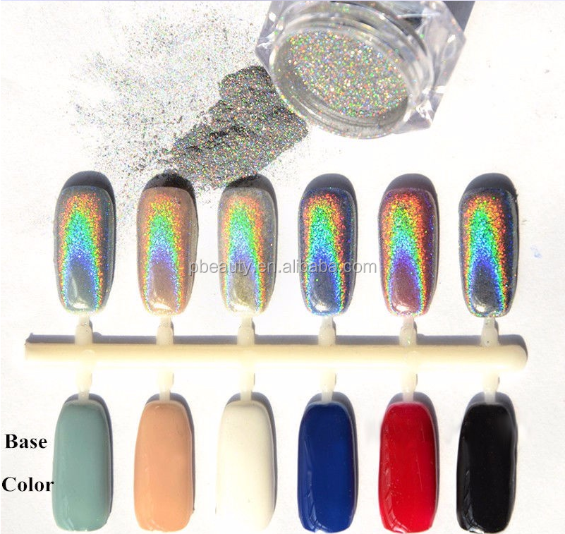 1g/jar Shiny Nail Poeder & NDO-264 & Hoge Pure Holografische Laser Nail Pigment Poeder/Nail Glitter stof Voor Nail Decoratie