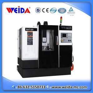 XH7125 Chine WEIDA cnc 4 axes petit vmc center d'usinage