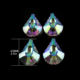 New Design 63mm scallop multi-colorful AB feng shui faceted decorating cut crystal suncatcher pendant for chandelier lamp decor