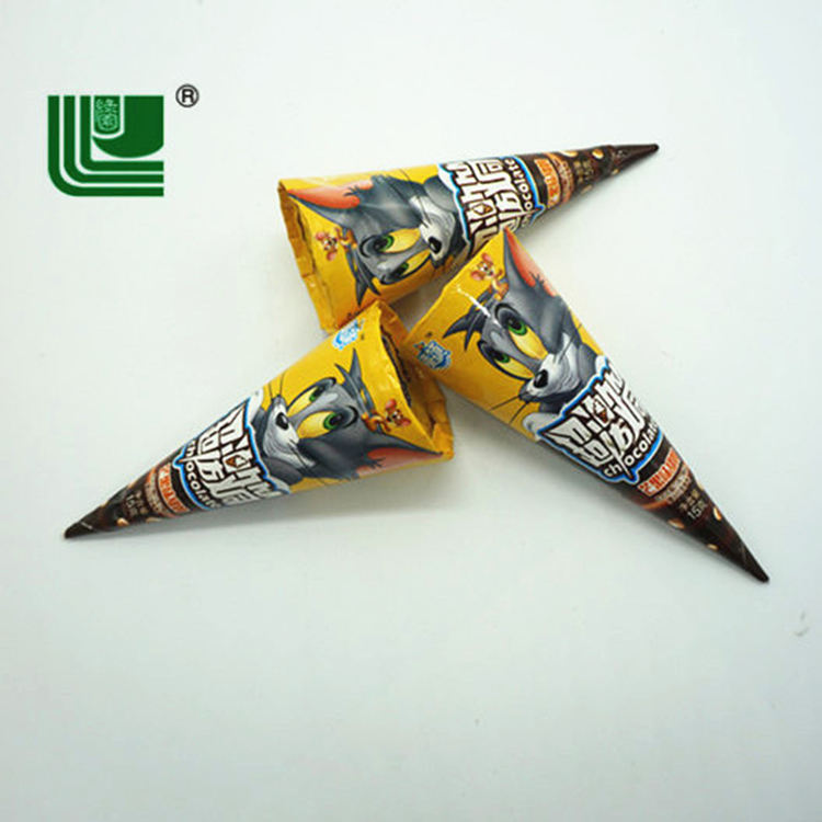 China Made Candy Crispy Wafer Cone Cups with Chocolate Biscuit