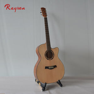 Music instruments manufacture cheap cutaway acoustic guitar
