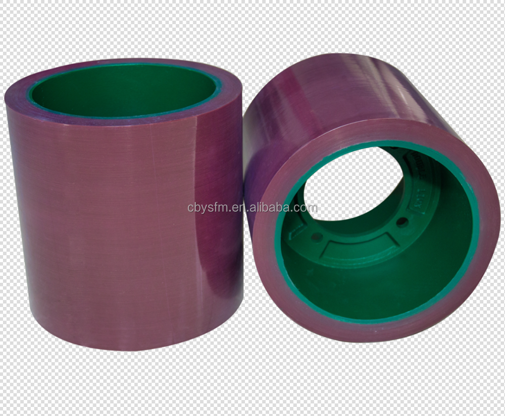 10inch Best Quality Rice Rubber Roller on Al Drum, high wear resistance Rice Rubber Rolls on Al Drum