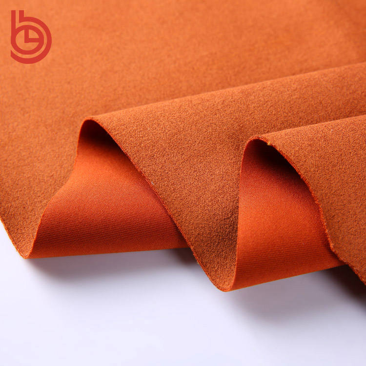 Home textile Garment peached poliestere tessuto scamosciato