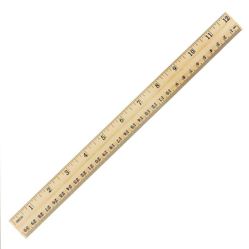 Wholesale and promotion Student Wooden School Office Measuring, 2 Scale (12 Inch and 30 cm) Wood Ruler