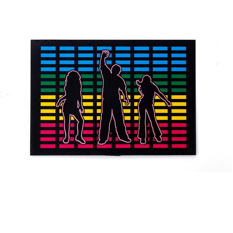 Gepersonaliseerde El Auto Sticker Sound Activated Led Knippert Panel Voor T-shirt