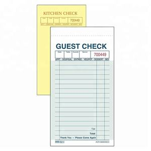 Wholesale Restaurant Guest Checks Order Pads Guest Check Books
