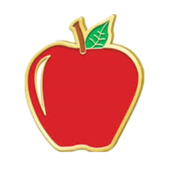 Wholesale Promotion Gifts Soft Enamel Custom Apple Heart Shape Metal Lapel Pin