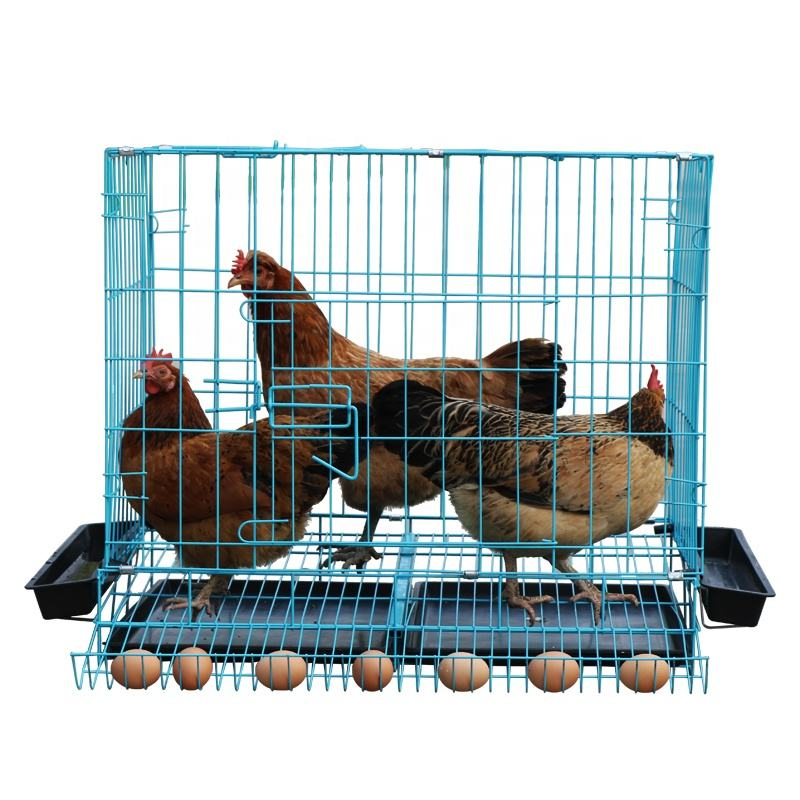 Wholesales 70x49x60cm Iron Wire Chicken Use Hen House With Bottom Tray Heavy Duty Customized Cheap Chicken Poultry Coop Cage