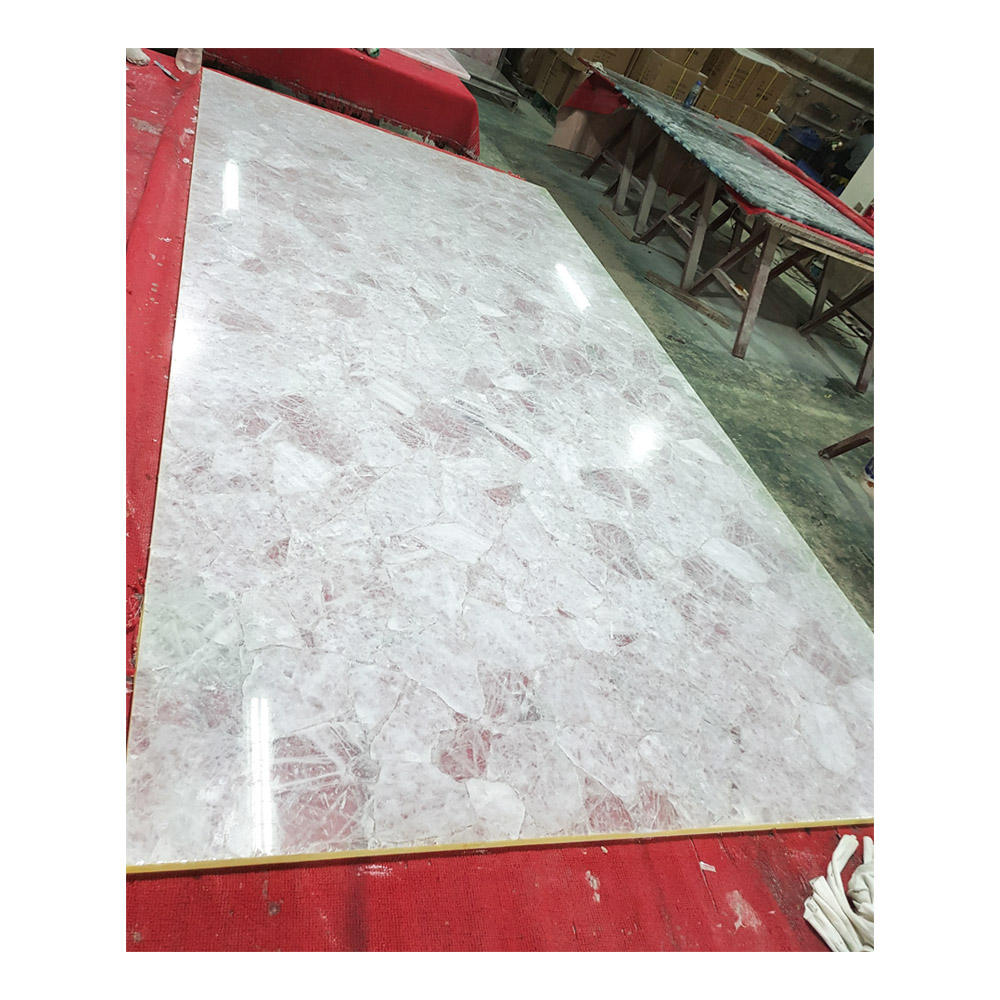 Natural stone Clear crystal slab/tile customized design size
