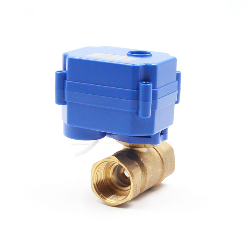 motorized valve for fan coil unit brass dn20 2 way motorized valve dn20 motor ball valve 220VAC CR03 or CRO4