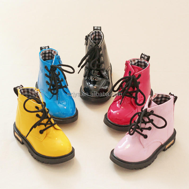 New fashion PU outsole material kids safety boots factory comfortable cheap boot