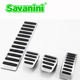 Savanini Car footrest clutch brake gas pedal pad no drilling for VW Golf 7 MK7 and new Touran manual, good rubber Aluminum alloy
