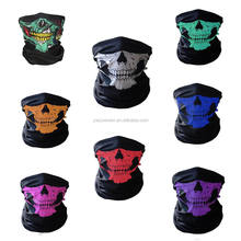 Knitted seamless magic cycling face skull scarf