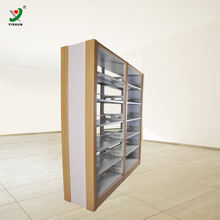 Heavy Duty Double Side Metal Library Bookshelf/ bookcases