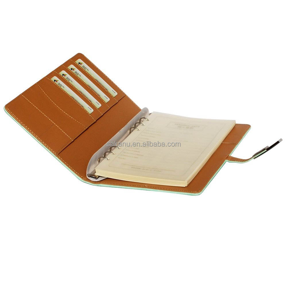 custom notebook business/school 100sheets diary pu leather