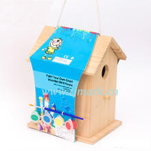 New unfinished wooden bird house,decorative lovebirds house